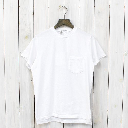 ENGINEERED GARMENTS WORKADAY『Crossover Neck Pocket Tee-Solid』(White)