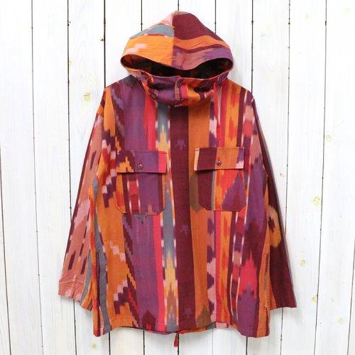 【SALE特価30%off】ENGINEERED GARMENTS『Cagoule Shirt-Cotton Ikat』(Red/Orange)
