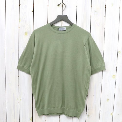 JOHN SMEDLEY『S4409 PULLOVER CN SS』(DRIED SAGE)
