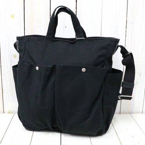 hobo『Cotton Canvas 2Way Shoulder Bag』(Black)