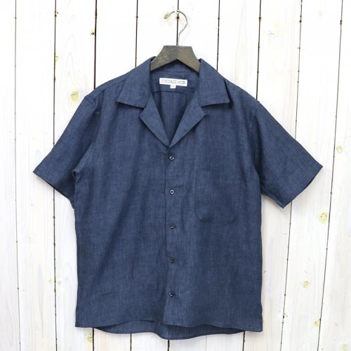 INDIVIDUALIZED SHIRTS『LINEN(ATHLETIC FIT SHORT SLV)』(NAVY)