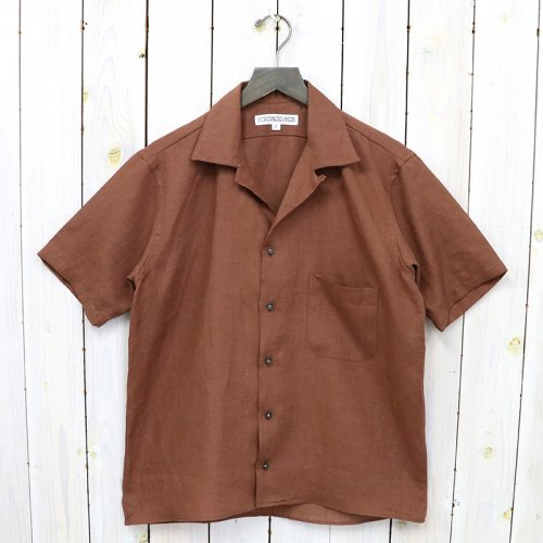 INDIVIDUALIZED SHIRTS『LINEN(ATHLETIC FIT SHORT SLV)』(BROWN)