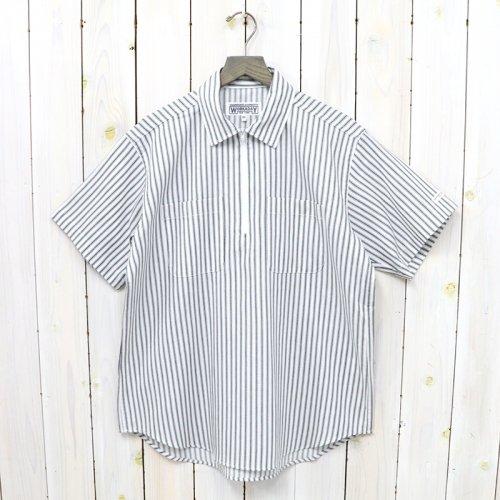 ENGINEERED GARMENTS WORKADAY『Half Zip Shirt-Cotton Ticking Stripe』(Black/White)