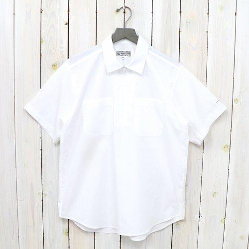 ENGINEERED GARMENTS WORKADAY『Half Zip Shirt-Superfine Poplin』(White)