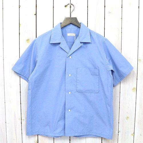 nanamica『Open Collar Wind H/S Shirt』(Sax)