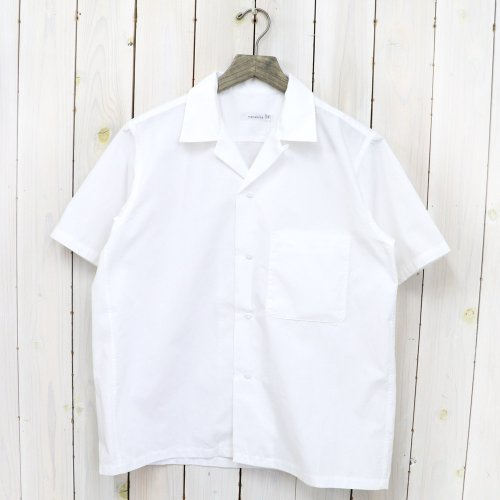 nanamica『Open Collar Wind H/S Shirt』(White)