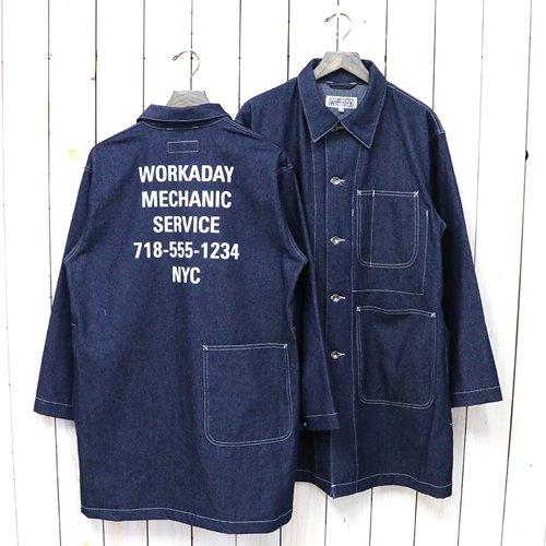 ENGINEERED GARMENTS WORKADAY『Shop Coat Printed-Washed 8oz Denim』