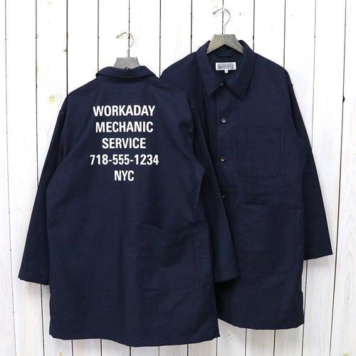 ENGINEERED GARMENTS WORKADAY『Shop Coat Printed-Cotton Reversed Sateen』(Dk.Navy)