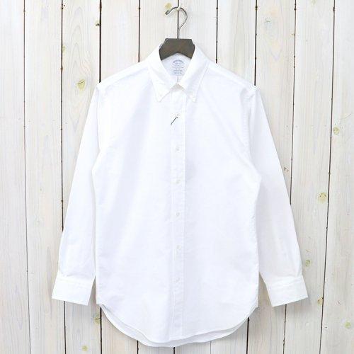 Brooks Brothers『スーピマコットン オックスフォード ポロボタンダウンシャツ-Regent Fit』(Solid White)