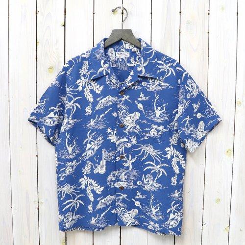 SUN SURF『S/S RAYON HAWAIIAN SHIRT -HISTORY OF PARADISE』(NAVY)