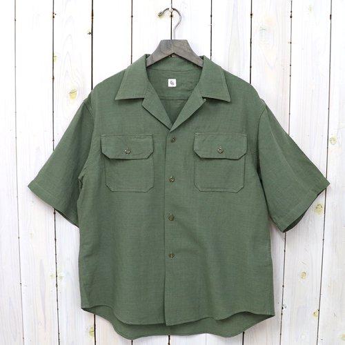 Kaptain Sunshine『Open Collar SS Shirt』(OLIVE)