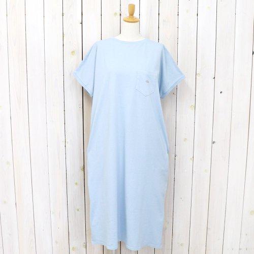 THE NORTH FACE PURPLE LABEL『5,5oz H/S Crew Neck Dress』(Steel Blue)