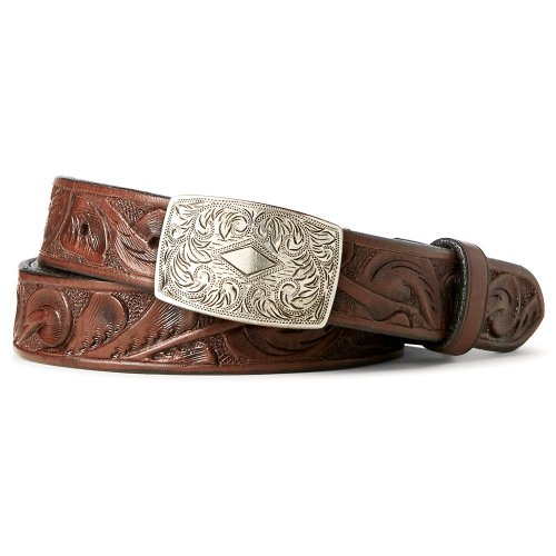 Double RL『HAND-TOOLED LEATHER BELT』(BROWN)