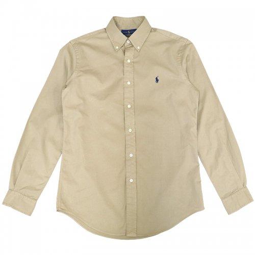 POLO RALPH LAUREN『カスタムフィット ボタンダウン コットンツイルシャツ』(SURREY TAN)