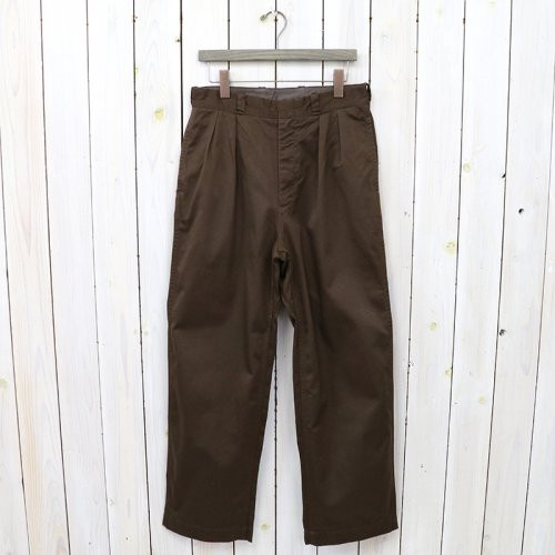 nanamica『Double Pleat Wide Chino Pants』(Brown)