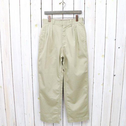 nanamica『Double Pleat Wide Chino Pants』(Khaki)