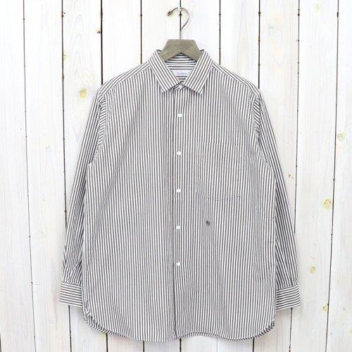 nanamica『Regular Collar Stripe Wind Shirt』(Brown)