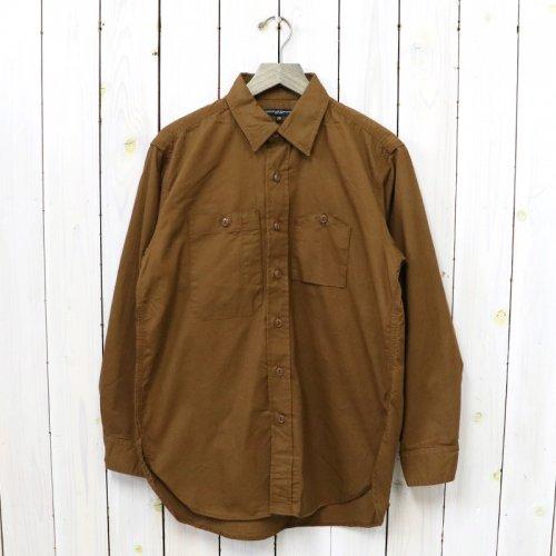 ENGINEERED GARMENTS『Work Shirt-Cotton Micro Sanded Twill』(Brown)