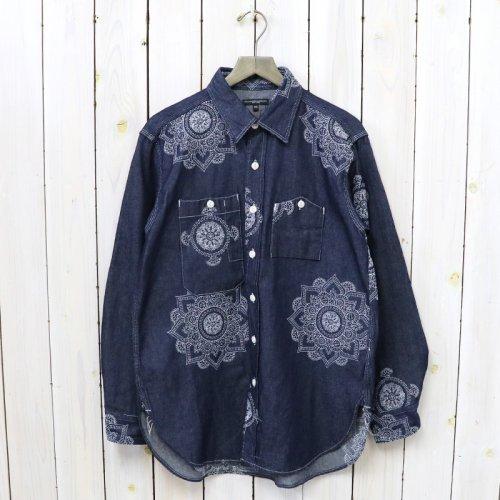ENGINEERED GARMENTS『Work Shirt-Floral Crest Embroidery Denim』