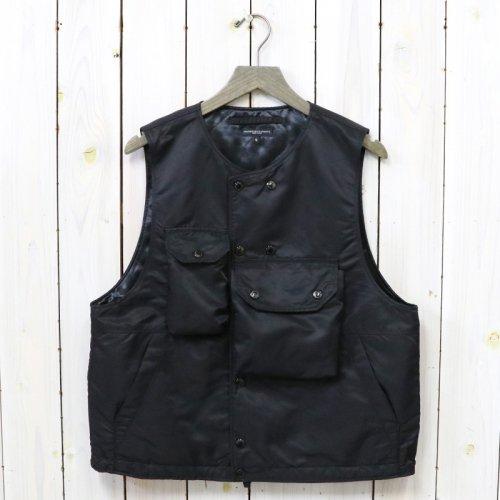 ENGINEERED GARMENTS『Cover Vest-Flight Satin Nylon』(Black)