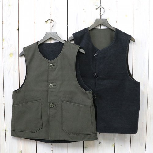 ENGINEERED GARMENTS『Over Vest-Heavyweight Cotton Ripstop』(Olive)