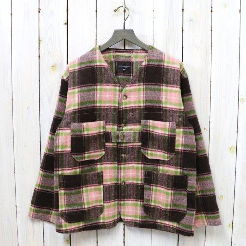 ENGINEERED GARMENTS『Cardigan Jacket-Poly Wool Plaid』(Brown/Pink)