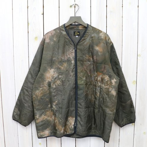 Needles『Piping Quilt Jacket-Nylon Ripstop/Uneven Dye』(Olive)