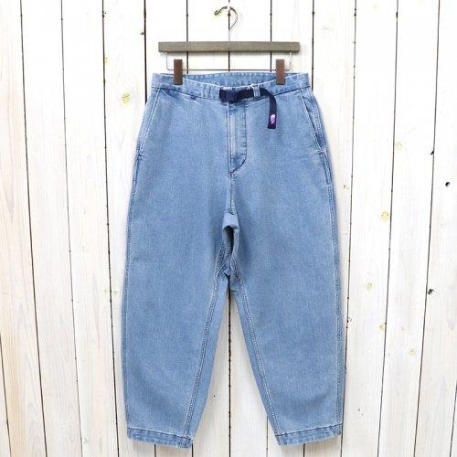 THE NORTH FACE PURPLE LABEL『Webbing Belt Denim Wide Tapered Pants』(Indigo Bleach)