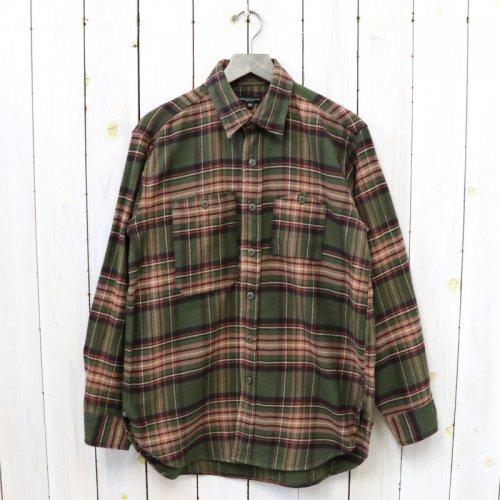 ENGINEERED GARMENTS『Work Shirt-Cotton Twill Plaid』(Olive/Brown)
