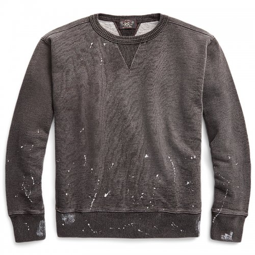 Double RL『DISTRESSED FRENCH TERRY SWEAT』(SULPHUR BLACK)