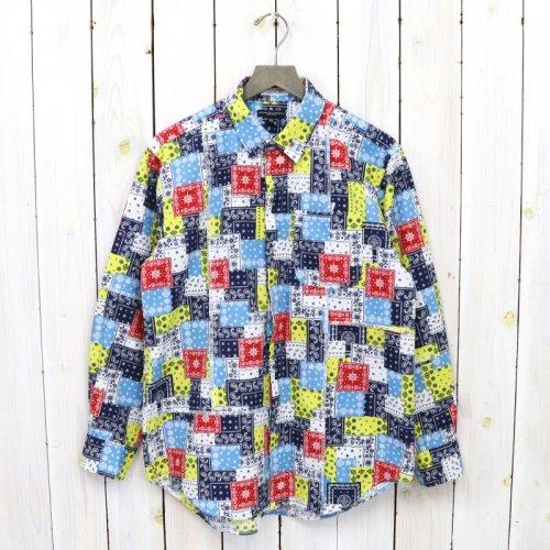 ENGINEERED GARMENTS『Combo Short Collar Shirt-Bandana Patchwork Print』(Multi Color)