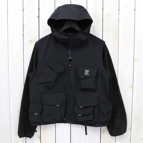 SOUTH2 WEST8『Fleece Sleeve Tenkara Parka-C/N Grosgrain』(Black)
