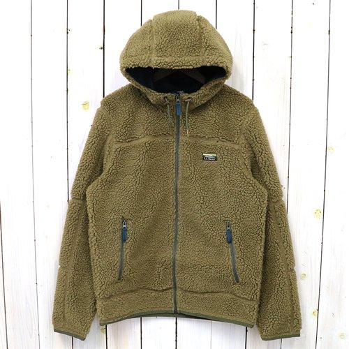 L.L.Bean『Mountain Pile Fleece Hoodie』(Fatigue Green)