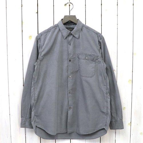hobo『Artisan L/S Shirt Cotton Broad Charcoal Dyed』