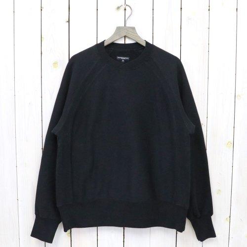 ENGINEERED GARMENTS『Raglan Crew-Cotton Heavy Fleece』(Black)