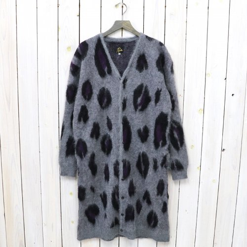 Needles『Mohair Long Cardigan-Leopard』(Grey)