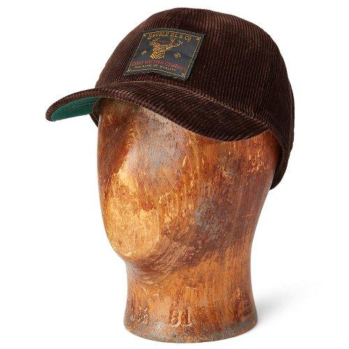 Double RL『CORDUROY TRUCKER CAP』(BROWN)