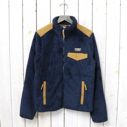 L.L.Bean『Hi-Pile Fleece Full-Zip Jacket』(Navy/Saddle)