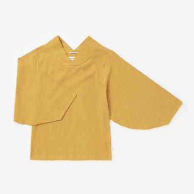 高島縮 40/40 薙(なぎ)ジバン/黄金色(こがねいろ)