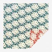 SOU・SOU×荒川益次郎商店 両面染 風呂敷(大)/ひなたぼっこ 鴨の羽色×赤橙