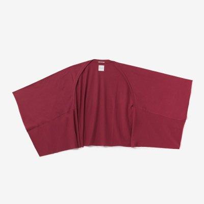 綿モダール むささび 短丈/紅色(べにいろ)