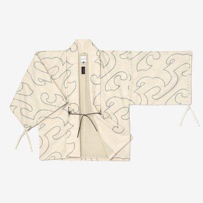 【net限定20%OFF】ジャカール 宮中袖 短衣 袷/万波 鳥の子靄(まんぱ とりのこもや)