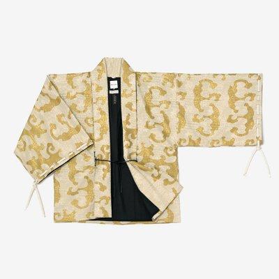 【net限定20%OFF】ジャカール 宮中袖 短衣 袷/怒濤 白橡靄(どとう しろつるばみもや)