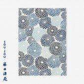 SOU・SOU×藤田染苑 藍捺染 手ぬぐい(ひめ丈)/菊づくし