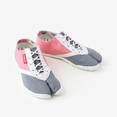 【net限定】高砂運動足袋 LOW いろは底/灰青×桃色