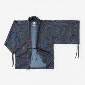 【30%OFF】インディゴ 宮中袖 短衣 単/がんじがらめ 濃縹(こきはなだ)