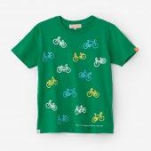 チャリンチャリン 三味 半袖Tシャツ/常磐色(ときわいろ)