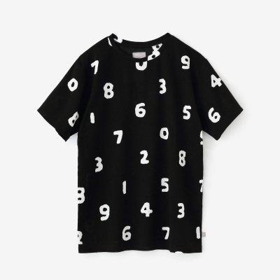 高島縮40/40 半袖Tシャツ/SO-SU-U大 濡羽色(ぬればいろ)