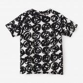 高島縮40/40 半袖Tシャツ/松ぼっくり