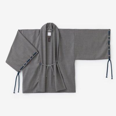 【net限定】梳毛 宮中袖 短衣 単/鈍色(にびいろ)
